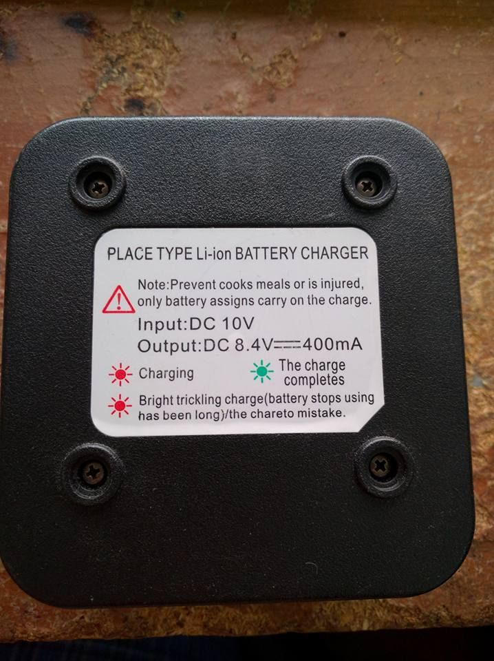 Label on a Beofang Charger